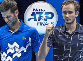 ATP Finals 2020 ยอโควิช พลาดท่าแพ้ เมดเวเดฟ