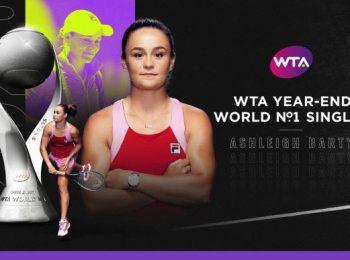 WTA จัดอันดับนักเทนนิสหญิงอาชีพ ส่งท้ายปี 2020