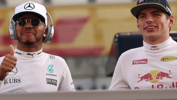Lewis Hamilton and Max Verstappen F1
